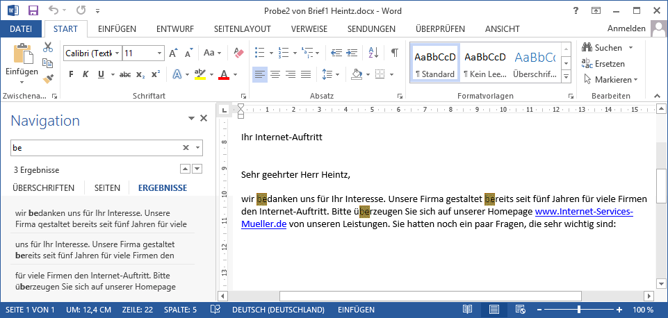 Anleitungen Office 2013 Suchen-Navigationsbereich
