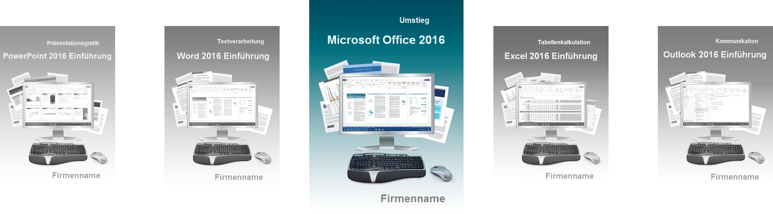Cover Seminarunterlagen Umstieg Office 2016