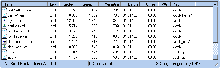 DOCX XML