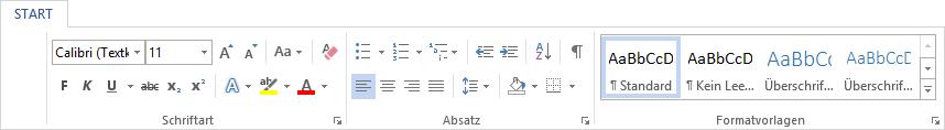Formatierungsarten