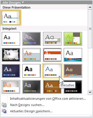 PowerPoint 2010 Foliendesigns