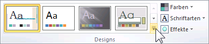 PowerPoint 2010 Katalog aufrufen