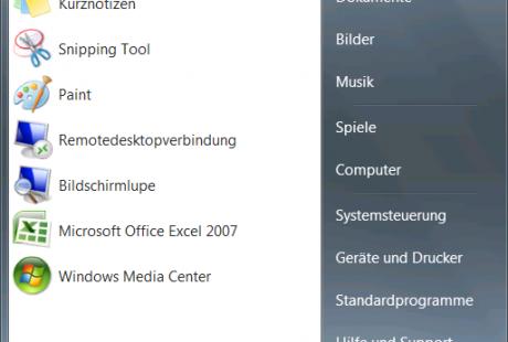 Windows 7 Startmenü