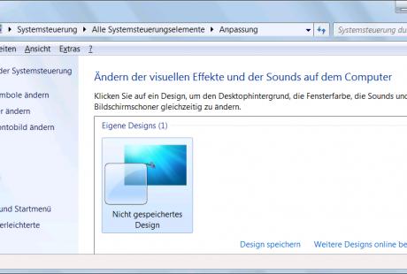 Windows 7 anpassen