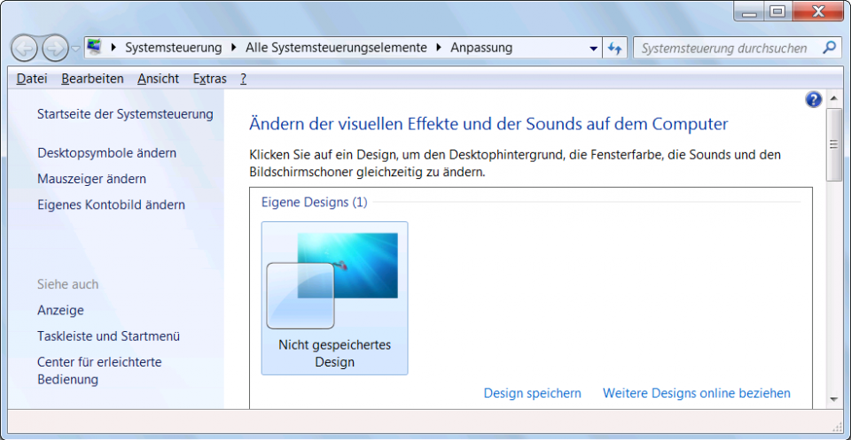 Windows 7 anpassen