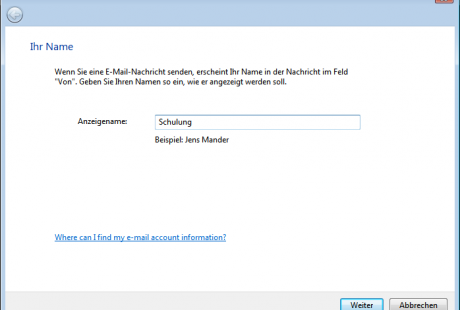 Windows Mail Assistent
