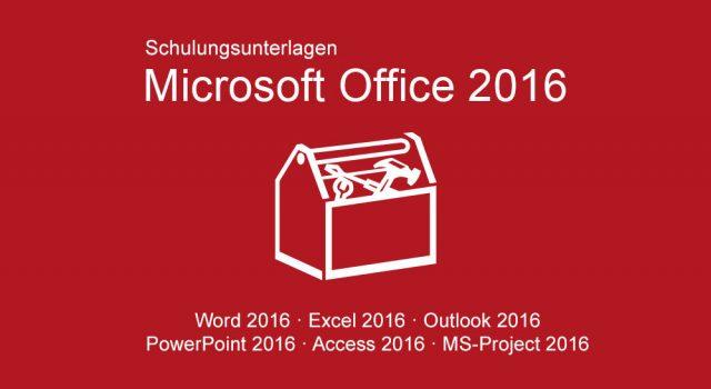 Schulungsunterlagen Microsoft Office 2016