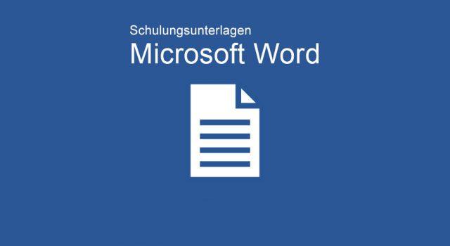 Schulungunterlagen Microsoft Word