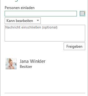 Schulungsmaterial Excel 2016 Einführung Personen einladen