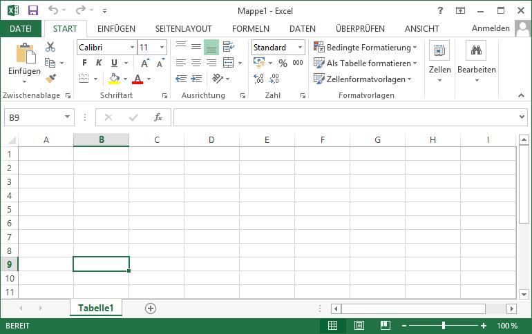 Schulungsunterlage Microsoft Excel 2013 Arbeitsmappe