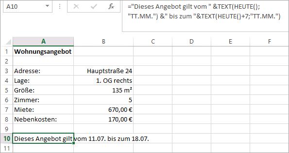 Schulungsunterlage Microsoft Excel 2013 Textverknuepfung