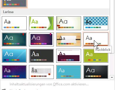 Schulungsunterlage Microsoft Powerpoint 2013 Foliendesign