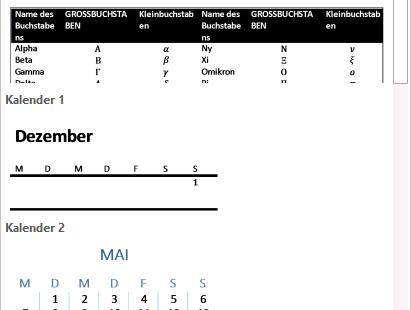 Schulungsunterlage Microsoft Word 2013 Katalog Schnelltabelle