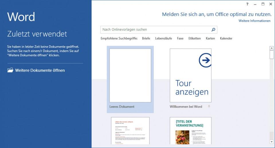 Schulungsunterlage-Microsoft-Word-2013-Startbildschirm