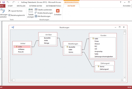 Schulungsunterlagen Microsoft Access 2013 Beziehungen