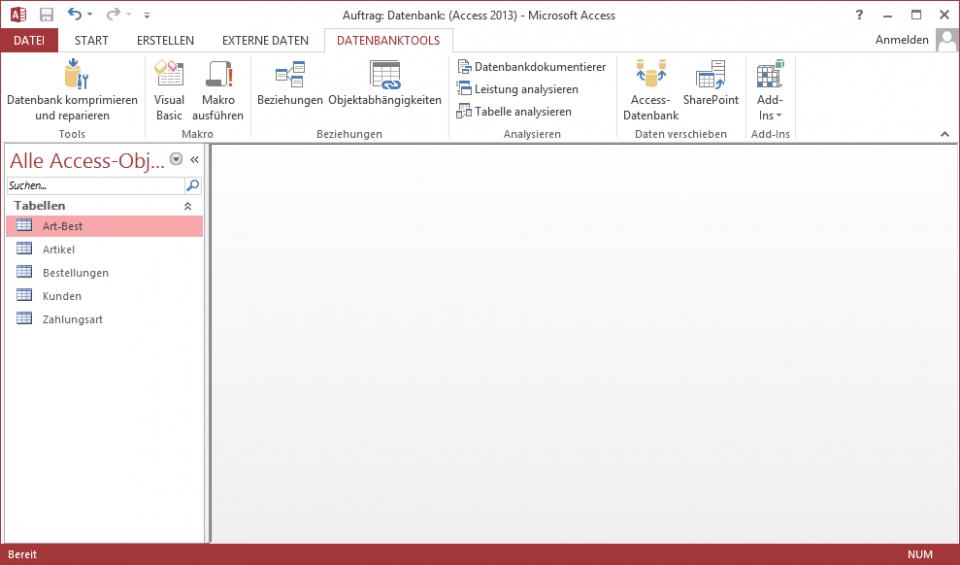 Schulungsunterlagen Microsoft Access-2013 Datenbank