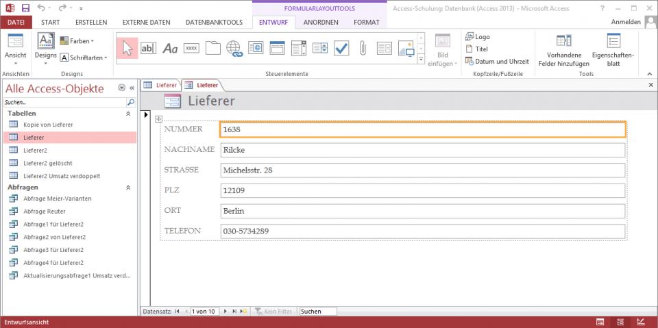 Schulungsunterlagen-Microsoft-Access-2013-Datenbank-Formular