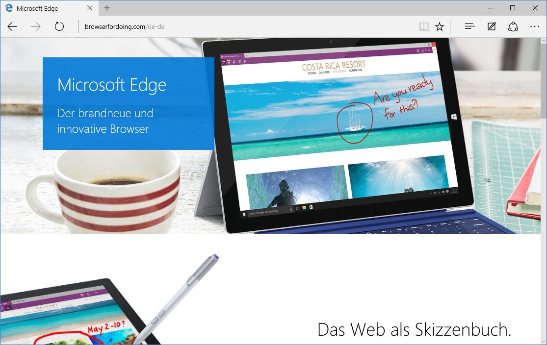 Schulungsunterlagen-Microsoft-Edge-Startbildschirm