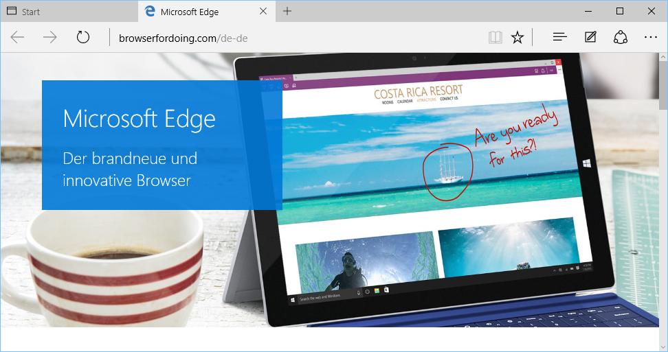 Schulungsunterlagen-Umstieg-Windows-10-Edge-Startbildschirm