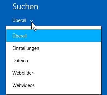 Schulungsunterlagen-Umstieg Windows 8.1 Internet Explorer 11 Suche eingrenzen