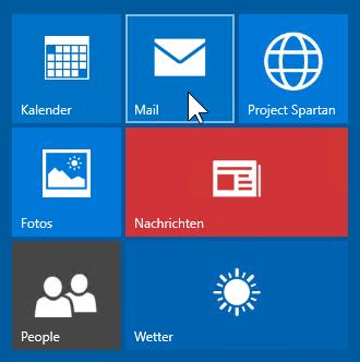 Schulungsunterlagen Windows 10 Kachel Mail