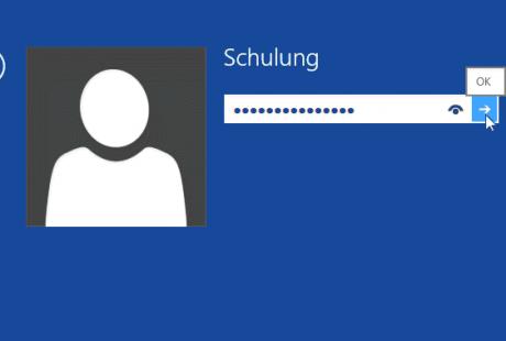 Schulungsunterlagen Windows 8 PC-Grundlagen Anmeldebildschirm