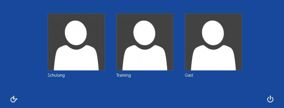 Schulungsunterlagen Windows 8 PC-Grundlagen Auswahlbildschirm