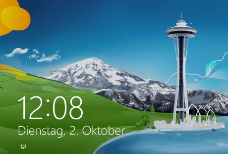 Schulungsunterlagen-Windows 8 PC Grundlagen Sperrbildschirm