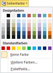 Word 2010 Seitenfarbe