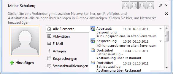 Outlook 2010 Personenbereich erweitert