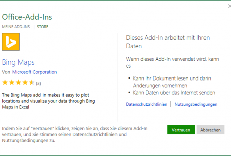 Seminarunterlagen Umstieg Office 2016 Add-In vertrauen