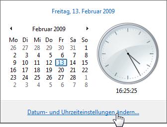 Datum Uhrzeit ändern