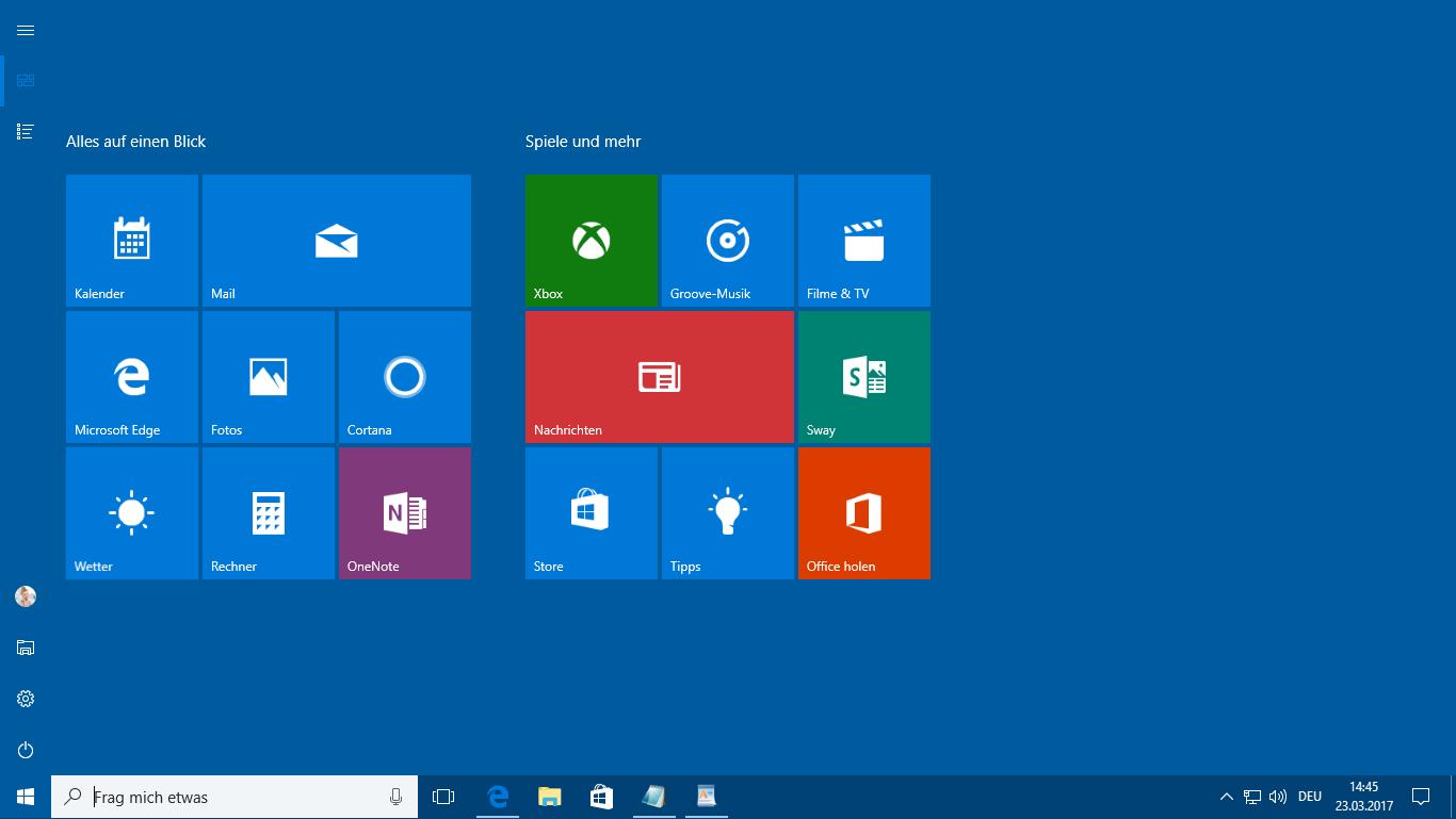 Windows 10-Startmenü Anniversary Update