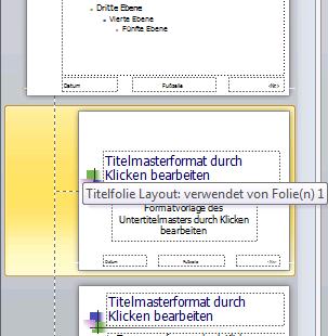 PowerPoint 2010 Übersichtsleiste