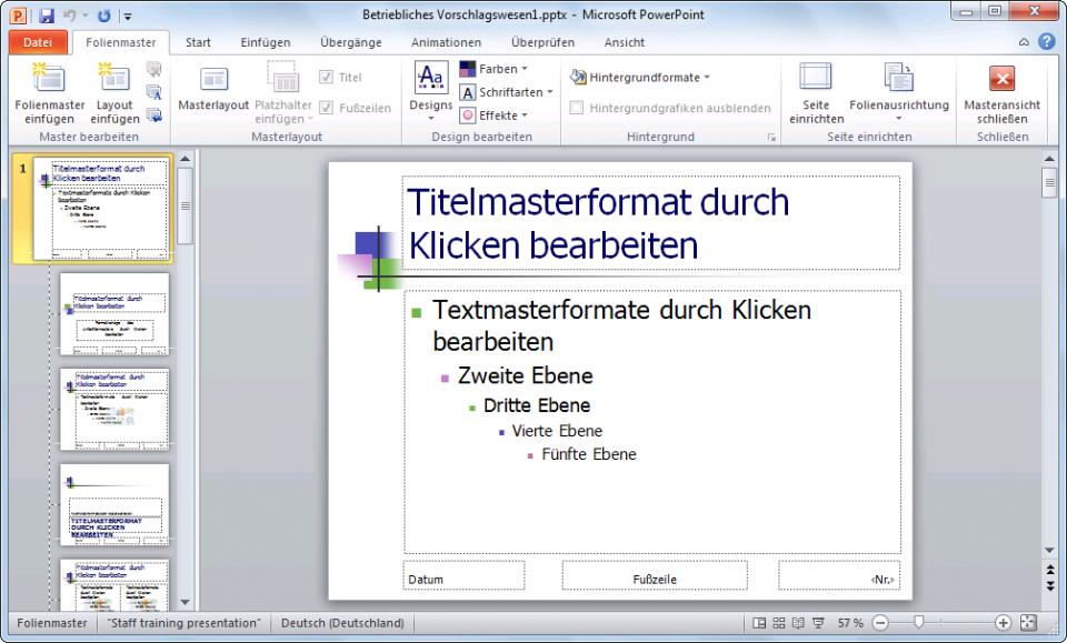PowerPoint 2010 Folienmaster