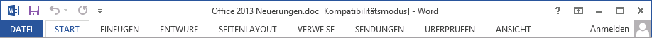 Umstieg Microsoft Office 2013 Kompatibilitätsmodus