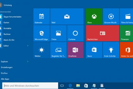 Windows 10-Startmenü