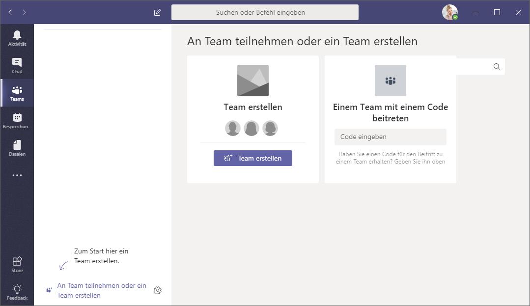 Schulungsunterlage Online-Zusammenarbeit Microsoft Teams
