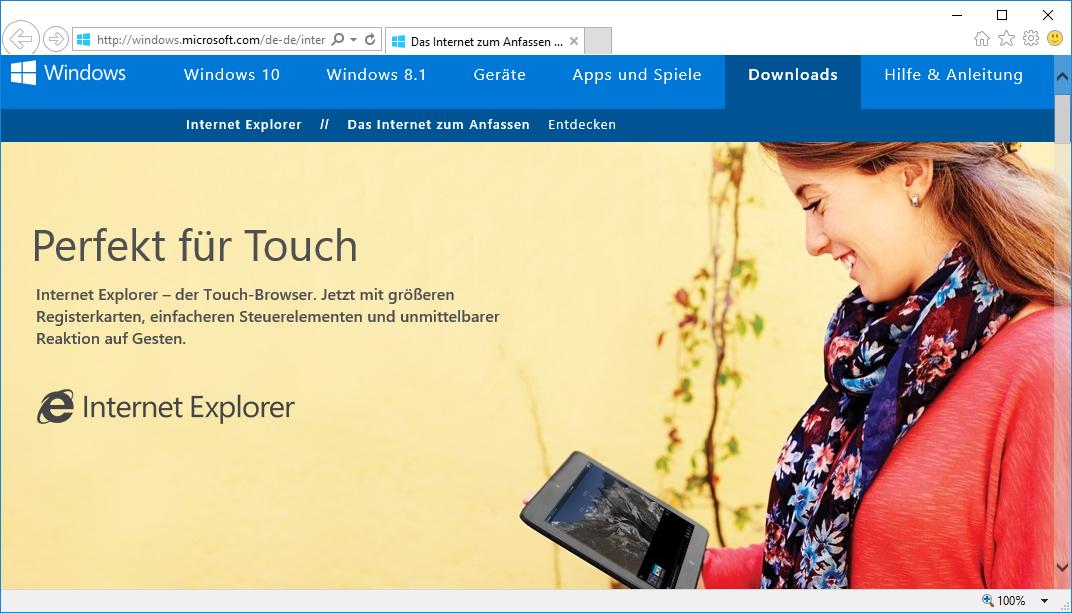 Schulungsunterlagen Internet Explorer 11 Microsoft-Website