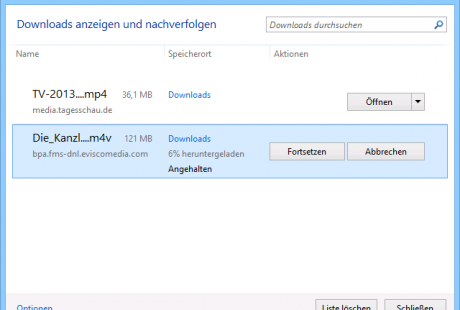 Schulungsunterlagen Internet Explorer 11 Download-Manager