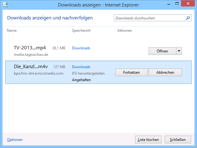 Schulungsunterlagen Internet Explorer 11 Download Manager