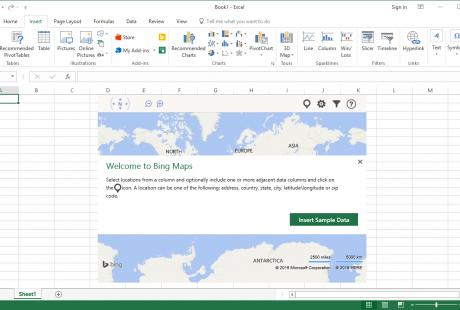 Umstieg Office 2016 Englisch Bing maps